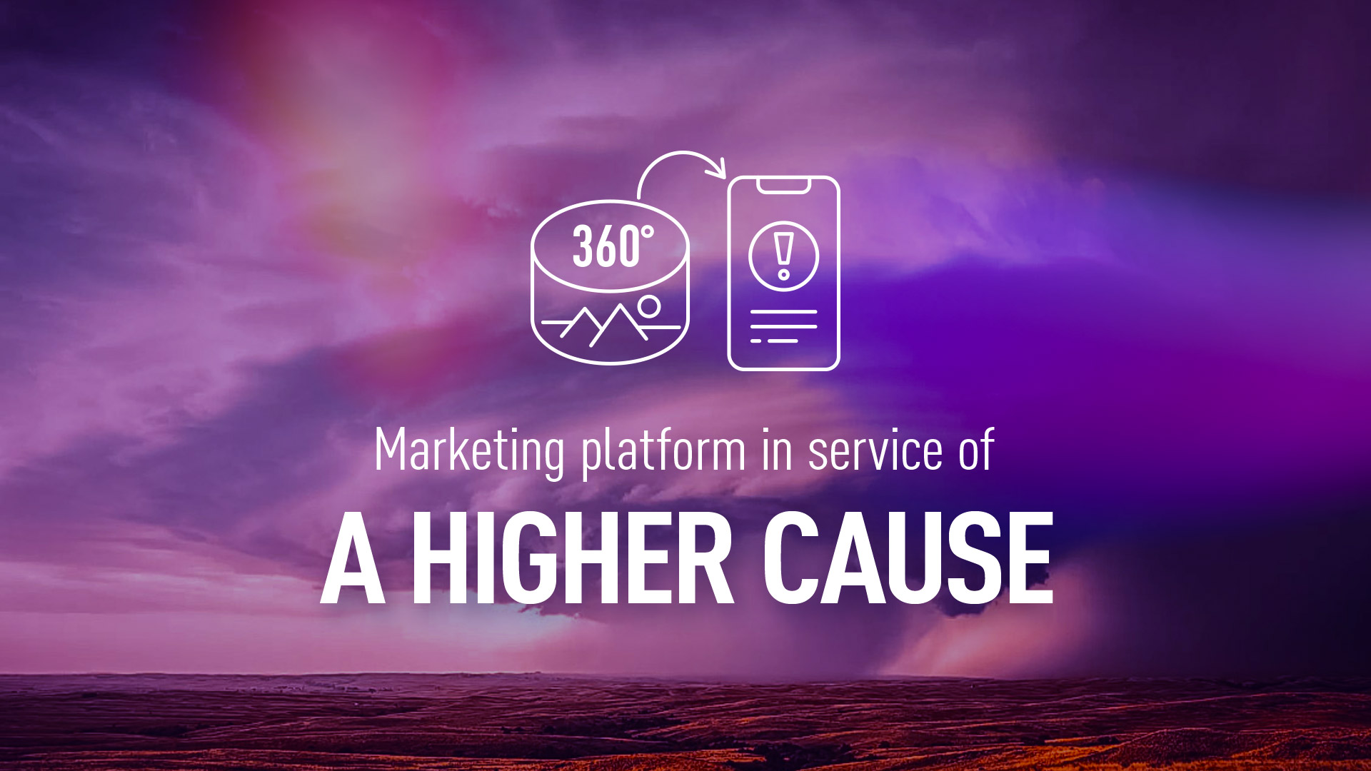 Real-time marketing platform in a service of a higher cause