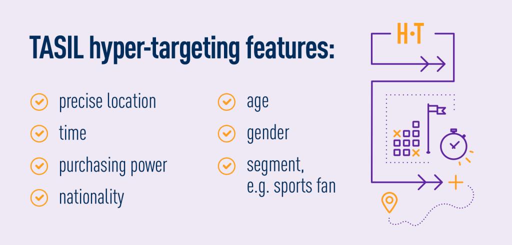 TASIL targeting features