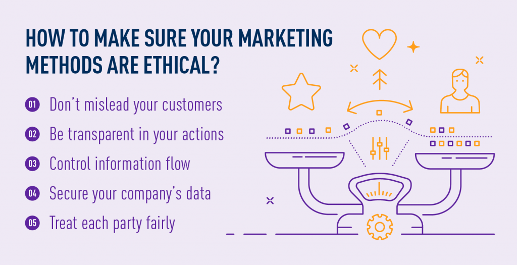 making sure your marketing methods are ethical